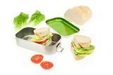 brotdosen - lunchbosen auf edelstahl und weißbleich