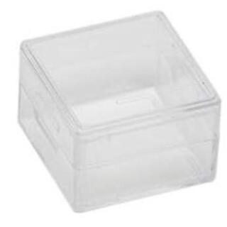 Edelsteindose ohne Schaumeinlage 25x25x15mm