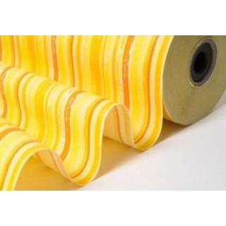 Blumenseidenpapier Streífen gelb-orange