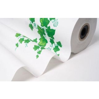 Blumenseidenpapier Ranken weiß