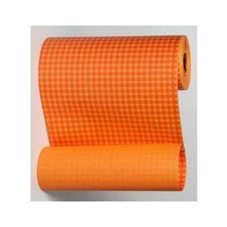 Blumenmanschettenpapier kariert orange