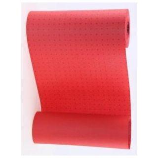Manschettenpapier mit Punkte-Motiv rot