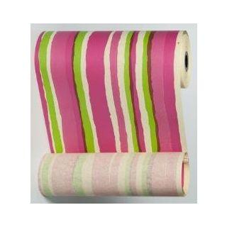 Manschettenpapier mit Streifen-Motiv pink-maigrün