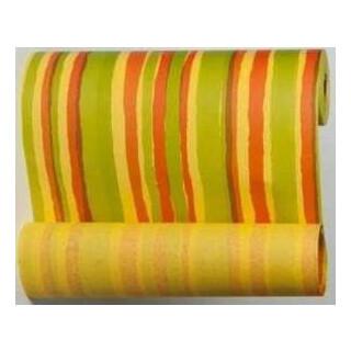 Manschettenpapier mit Streifen-Motiv gelb-maigrün