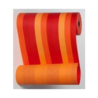 Blumenmanschettenpapier mit Streifen orange