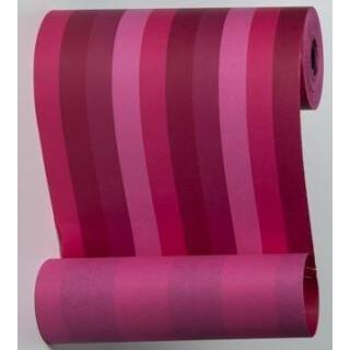 Blumenmanschettenpapier mit Streifen pink