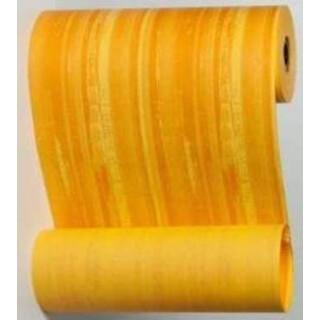 Blumenmanschettenpapier mit Streifen gelb-orange