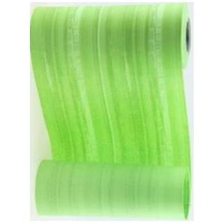 Blumenmanschettenpapier mit Streifen maigrün-grün
