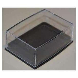 Klarsichtdose 55x38x17mm Boden schwarz mit Einlage