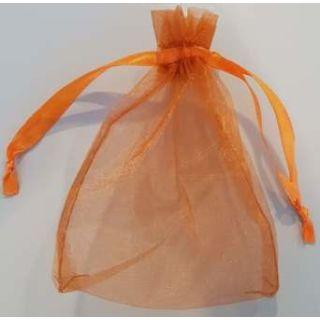 Organzabeutel 100x140mm braun-orange