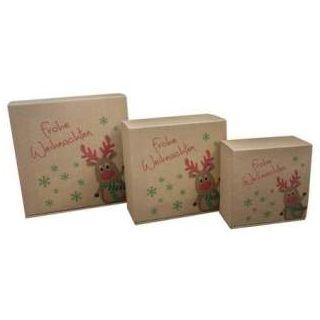 Geschenkkarton für Weihnachtspräsente Rudolph