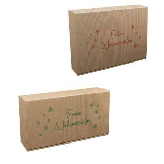 Geschenkkarton für Weihnachtspräsente Frohe Weihnachten